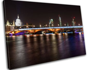 London Skyline Cityscape Canvas Print Home Decor- Abstract Wall Art - Modern Prints - Ready To Hang