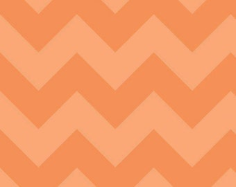 "Large CHEVRON  ~  ORANGE Tone- on-Tone ~ 1/2 Yard Cut ~ 100% Cotton Fabric ~ 18"" x 44"" ~ Riley Blake Designs  ~ C390-61"