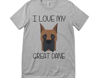 I Love My Great Dane Tee T.Shirt