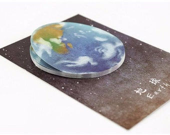 Earth Post-It Sticky Notes Memo