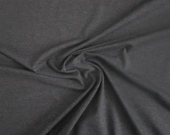 Charcoal Cotton Jersey Knit Fabric by the Yard Last Yard Dark Grey Cotton Knit Stretch Jersey Fabric Clothing Apparel Fashion Fabric Knit