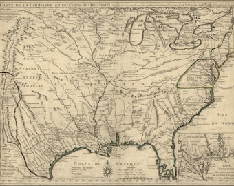 Poster, Many Sizes Available; Map Of United States Of America 1718