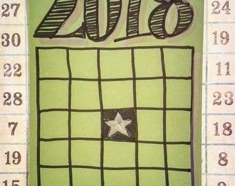 Personal Growth BINGO Card (GREEN)
