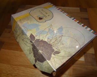 Decorative, original and personalized tea box