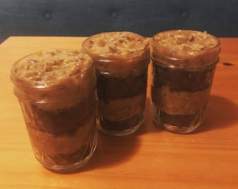 German Chocolate Cupcakes in a Jar