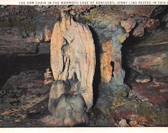 Vintage Postcard The Arm Chair in the Mammoth Cave of Kentucky Unused