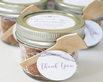 """Thank You Tags for Party Favors - Cursive Text, 1.5"""" Round Circles"""