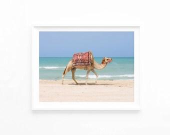 Desert Animal Print, Camel Print, Moroccan Decor, Printable Art Photography Download, Camel Art Poster, Boho Bohemian Decor, ca2c2c1