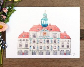 Postcard-Lüneburg City Hall