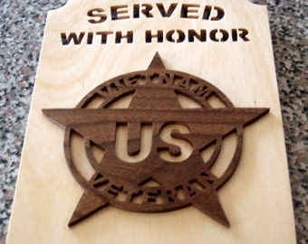Vietnam Veteran Plaque - Served with Honor