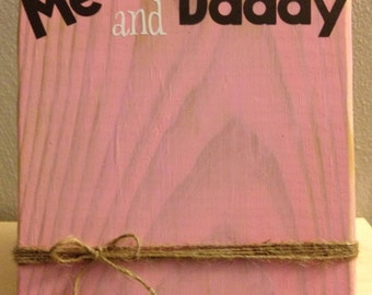 "Rustic Wood Photo Frame with Twine Holder ""Me and Daddy"" (Father's Day)"