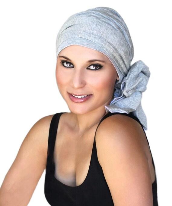 Beroemd Chemo Hat tulband hoofd Wrap grijze tulband muts & sjaal QB25