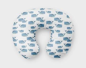 Whale Pod Nursing Pillow Cover, Girl Boy Nursing Cover, Whale Nursing Pillow Cover, Minky Nursing Pillow Cover, Sea Animla Boppy Cover