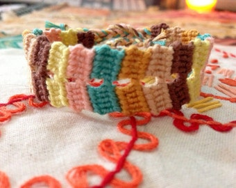 SALE 40% OFF Double Variegated Block friendship bracelet