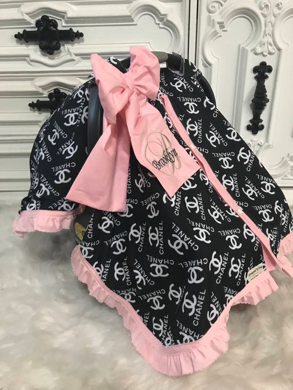 car seat canopy , CC car seat cover , comes with BOW and Ruffle