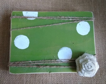 Green Wood Picture Frame - Rustic Picture Frame - Green Picture Frame - Farmhouse Frame