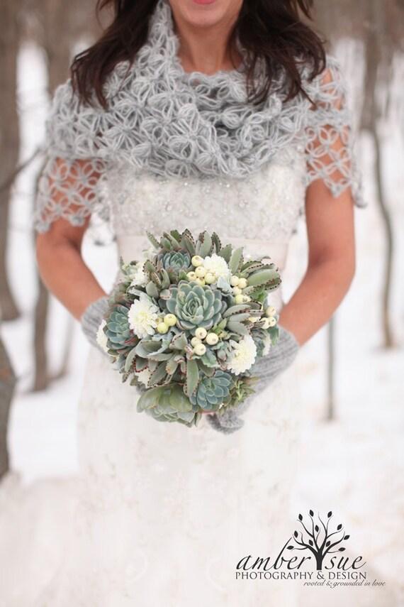 Bridal Shrug Bridal Bolero Shawl Winter Wedding Bridal