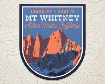 Mt. Whitney Decal Sticker
