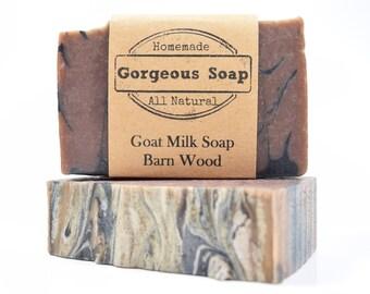 Barnwood Goat Milk Soap - All Natural Soap, Handmade Soap, Homemade Soap, Handcrafted Soap