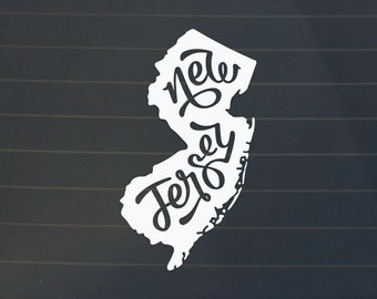 Car decal - New Jersey Decal - New Jersey Sticker - New Jersey Car Decal