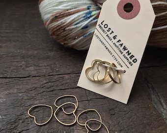 Set of Plain Heart Knitting Stitch Markers