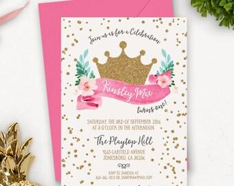 Mädchen Prinzessin Einladung / Prinzessin Geburtstags-Einladung / Prinzessin Party-Einladung Download / Prinzessin Geburtstag Party Dekorationen