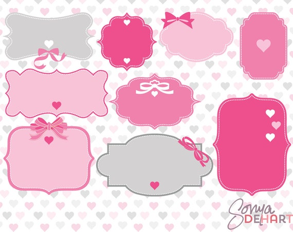Valentines Clipart Clipart Labels Clipart Frames Valentines Day