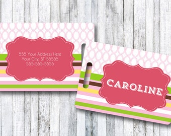 Luggage Tag | Personalized Bag/Luggage Tag | Kids Backpack Tag | Diaper Bag Tag | Custom Bag Tag | Travel Accessory | Ribbons and Bows