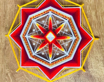 Ojo de Dios Eye of God Yarn Mandala Easter Sun, Created by a Reiki Master Teacher.