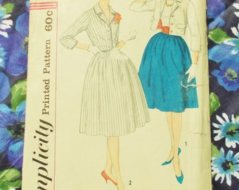 "Vintage Simplicity Sewing Pattern - Early 1960's - Lady's Gathered Skirt - Size 14 Waist 26"" - Mpn 3304  - Part unused - part incomplete"