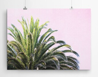 Wall Art Prints Wall Decor Wall Art Canvas Print Art Prints Canvas Art Pink Wall Art Tropical Wall Decor Palm Print Canvas Wall Art