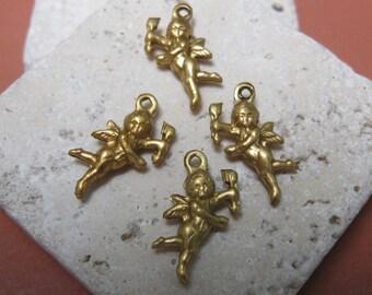 """Vintage 5/8""""  3-Dimensional Cherub Brass Findings.  1 dz."""