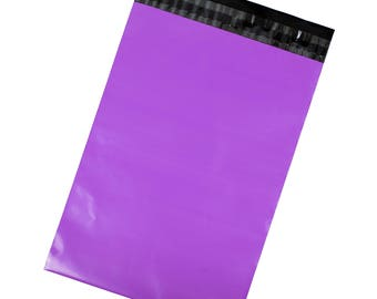 Purple Poly Mailers - Pack of 100 - Free Shipping