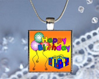 Pendant Necklace Happy Birthday