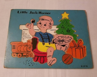 Vintage SIFO Wooden Puzzle. Little Jack Horner /  Vintage Wooden Puzzle / Vintage puzzle