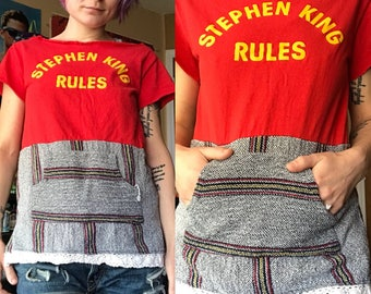Stephen King Rules •Monster Squad• Upcycled Tee