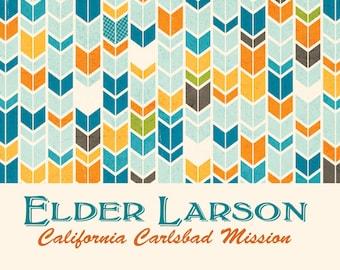 Elder Missionary Stationary- All over design