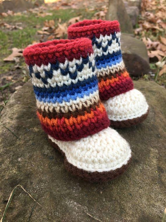 Mini Mukluk Booties Mukluk Baby Boots Crochet Pattern