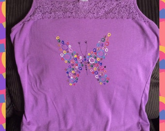 Butterfly Tank Top Hand Painted