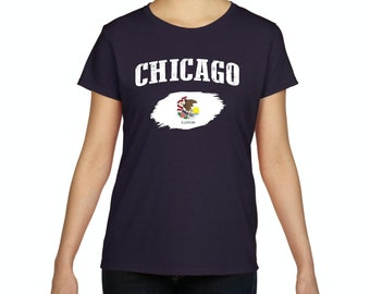 Chicago Illinois Women Shirts T-Shirt Tee