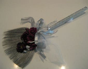 Blinged Out Silver Broom Collection: Wedding Broom