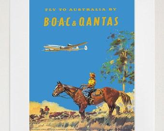 Australia Art Print Vintage Travel Poster (TR90)