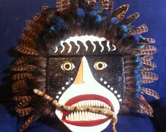 Reliefimage of a Hopi Indian Shaman Mask : The Snake Dancer