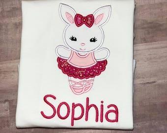 Easter Shirt For Girls, Easter Bunny Shirt, Girl Bunny Easter shirt, Personalized Easter Shirt, Embroidered Easter Shirt, Bunny Shirt,