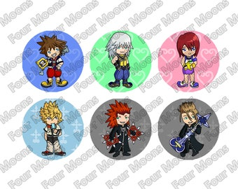 Kingdom Hearts Button Set