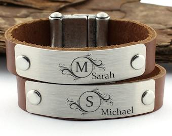 Couples Bracelet, Personalized Initial Bracelet, Letter Name Bracelet, Monogram Bracelet, Valentine Day Gift, Love Bracelet, Custom Bracelet