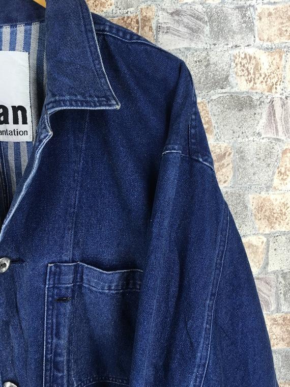 Jacket Jeans Size MIYAKE Of Denim Blue Sport Jeans Issey Vintage Vintage Medium ISSEY Striped Unisex Outerwear Plantation Jacket Jean M tEUgw