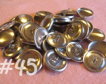 50 Covered Buttons - 1 1/8 inches - Size 45 wire backs/loop backs covered buttons notion supplies diy refill