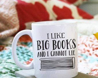 I Like Big Books And I Cannot Lie Funny Illustrated Ceramic Plastic Travel Mug Drink Cup