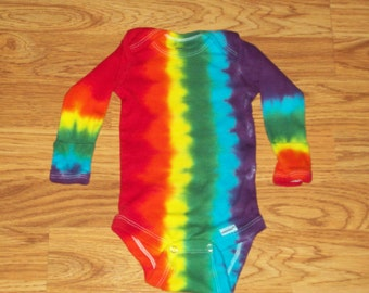 Tie dye onesie, All Sizes, 0-3m, 3-9m, 12m, 18m, baby onesie, Long sleeve tie dye onesie
